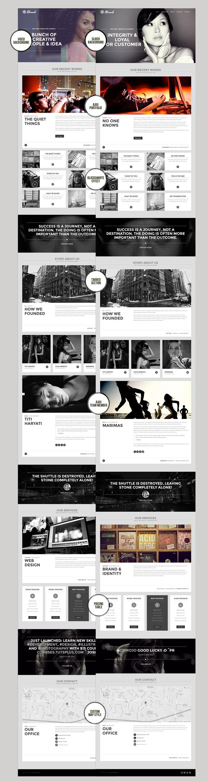 Alamak - Responsive One Page Portfolio