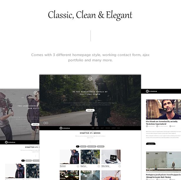 Cizarua - Responsive One Page Portfolio Template - 2