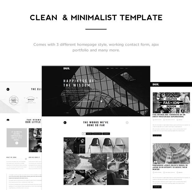 Diux - Responsive One Page Portfolio Template - 2