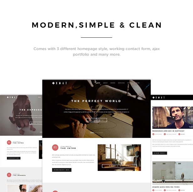Omat - Responsive One Page Portfolio Template - 1